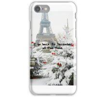 BACK TO DECEMBER iPhone Case/Skin