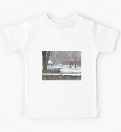 Duck Pond in the Snow Kids Tee