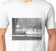 Duck Pond in the Snow Unisex T-Shirt
