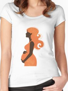 Beautiful pregnant woman #8 Women's Fitted Scoop T-Shirt