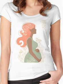 Beautiful pregnant woman #9 Women's Fitted Scoop T-Shirt