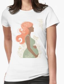 Beautiful pregnant woman #9 Womens Fitted T-Shirt