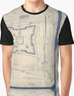Civil War Maps 1994 Map of Fort Sanders Knoxville Tennessee showing the Confederate assault of Nov 29 1863 Graphic T-Shirt