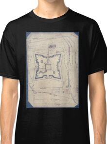 Civil War Maps 1994 Map of Fort Sanders Knoxville Tennessee showing the Confederate assault of Nov 29 1863 Classic T-Shirt