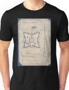 Civil War Maps 1994 Map of Fort Sanders Knoxville Tennessee showing the Confederate assault of Nov 29 1863 Unisex T-Shirt
