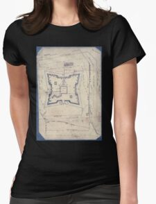 Civil War Maps 1994 Map of Fort Sanders Knoxville Tennessee showing the Confederate assault of Nov 29 1863 Womens Fitted T-Shirt