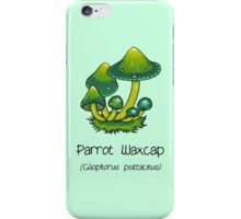 Parrot Waxcap (with smiley face) iPhone Case/Skin