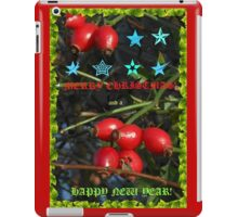 Christmas and New Year Card for RedBubble iPad Case/Skin