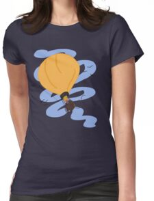 Hot Air Balloon in the Sky Womens Fitted T-Shirt