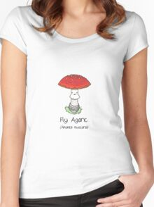 Fly Agaric (with smiley face) Women's Fitted Scoop T-Shirt