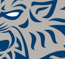 Lion Head Side Retro Circle Sticker