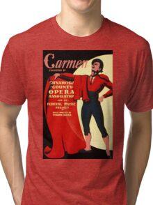 Vintage WPA Federal Music Project Opera Carmen Tri-blend T-Shirt