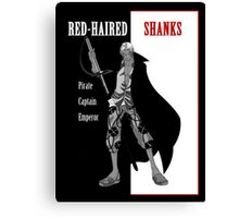 One Piece : Red-Haired Shanks (scarface parody) Canvas Print