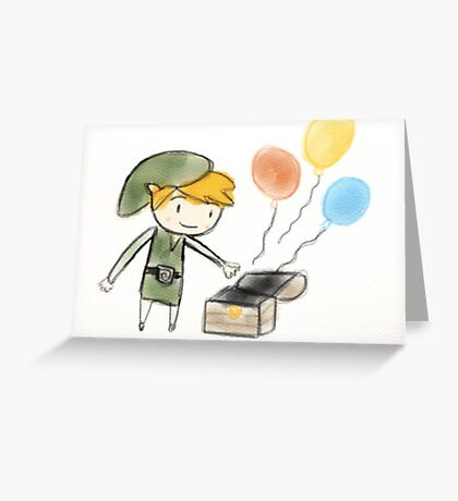 Happy Birthday Link from Zelda  Greeting Card