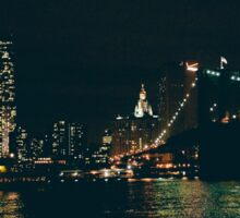 New York City at Night Sticker