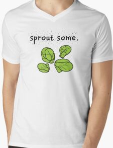 sprout some. (Brussels sprouts) Mens V-Neck T-Shirt
