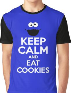 Keep Calm and Eat Cookies Graphic T-Shirt