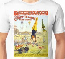 Vintage Coney Island Circus Water Carnival Unisex T-Shirt