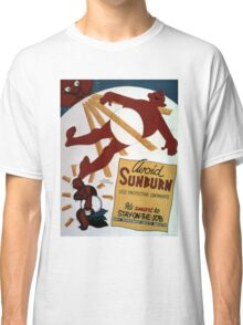 Vintage World War II Funny Avoid Sunburn Safety Classic T-Shirt