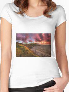 Kimmeridge Bay ... Women's Fitted Scoop T-Shirt