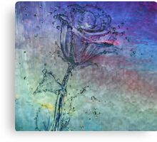 Water Rose - Digital Art Print Canvas Print
