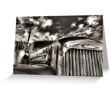 Mack  B model in Black and White Greeting Card