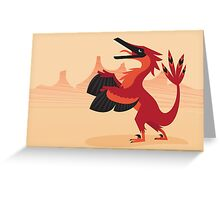 Vainglorious Velociraptor Greeting Card