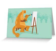 Artistic Ankylosaurus Greeting Card