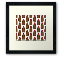 Groundhog in a Fez pattern Framed Print