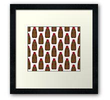 Groundhog in a Fez pattern Framed Print