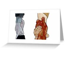Frodo and Sam Holding Hands Greeting Card
