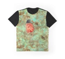Robin in Eucalyptus Graphic T-Shirt