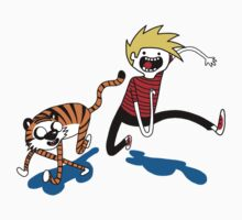 Adventure Time with Calvin and Hobbes One Piece - Short Sleeve