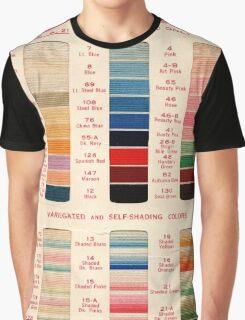 Vintage Color Thread Chart Graphic T-Shirt