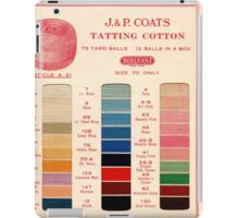 Vintage Color Thread Chart iPad Case/Skin