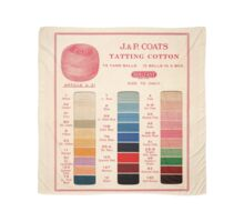 Vintage Color Thread Chart Scarf