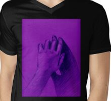 hand with shadow Mens V-Neck T-Shirt