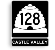 Utah 128 - Castle Valley Canvas Print