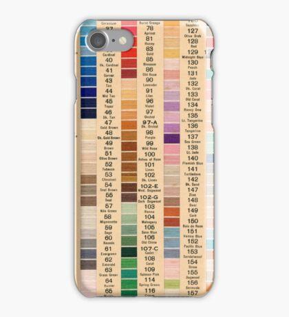 Vintage Boilfast Color Sample Card iPhone Case/Skin