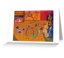 A Jazzy Bunch Greeting Card