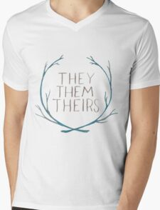 They Series Mens V-Neck T-Shirt