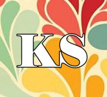 Floral Kansas Sticker