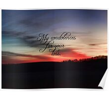 Condolences for Martha Poster