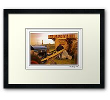 The Oul Garvie Thresher Framed Print