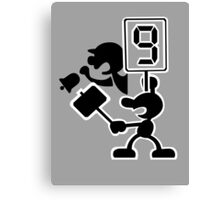 Super Smash Bros Game and Watch Canvas Print