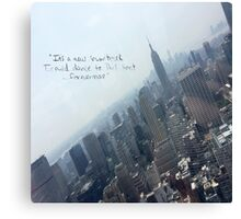 Taylor Swift Welcome to New York quote Canvas Print