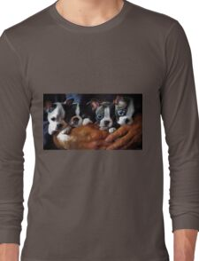 Safe In The Arms Of Love - Puppy Art Long Sleeve T-Shirt