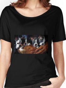 Safe In The Arms Of Love - Puppy Art Women's Relaxed Fit T-Shirt