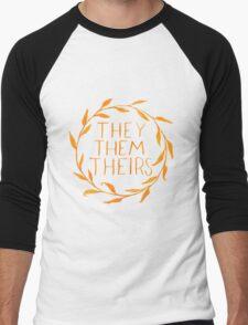 They Series-Orange Men's Baseball ¾ T-Shirt