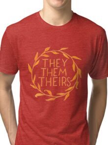 They Series-Orange Tri-blend T-Shirt